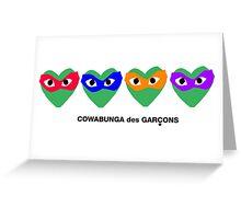 Cowabunga des Garcons Greeting Card