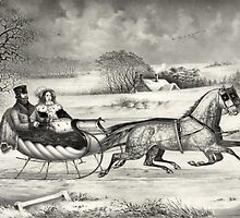 Sleigh Ride in a Winter Wonderland by Vintage Works