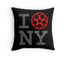 I Bike NY - New York Bicyclist Throw Pillow