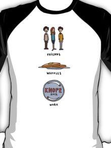 Friends, Waffles, Work. T-Shirt