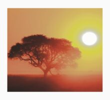 Camel Thorn Tree - African Sunset Tranquility  Kids Clothes