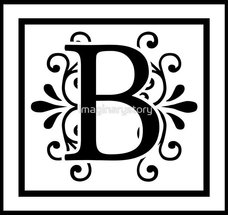 u0026quot letter b monogram u0026quot  by imaginarystory