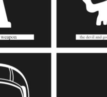 Brand New (band) Minimalistic Album Covers  Sticker