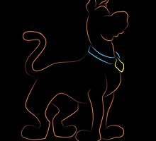 Scooby Doo - Neon Outline by JBGD