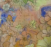 Floral Watercolour Collage 7 by Heather Holland  by Heatherian