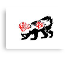 Punk Honey Badger Canvas Print