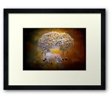 The softness of wool Framed Print