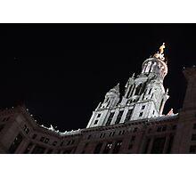 City Night Walks - Manhattan Municipal Building, a  Beaux-Arts Jewel Photographic Print