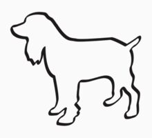 Dog Outline Cocker Spaniel Gifts Kids Clothes
