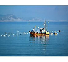 Slippery Dick Fishing Boat At Lyme Photographic Print