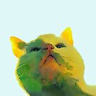 Cat in green ...  by OlaG