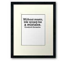 Music 2 Framed Print