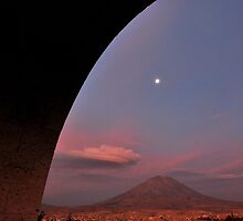 Painted Sky under the Arch ! by Alessandro Pinto