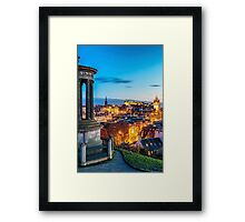 Calton Hill Blue Hour Framed Print