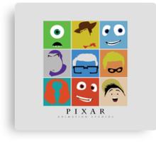 Disney Pixar Characters Canvas Print