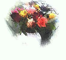 roses in vase by OlaG