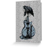 Crow on Guitar Greeting Card