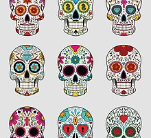 Sugar Skulls by tinaodarby