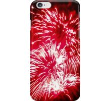 Bright red fireworks iPhone Case/Skin