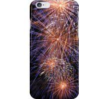 Blue fireworks iPhone Case/Skin