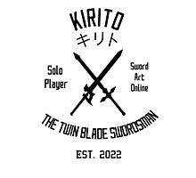 The Twin Blade Swordsman (Black) Photographic Print