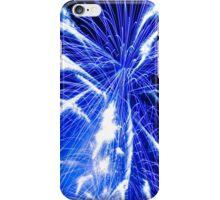 Big bright blue fireworks iPhone Case/Skin