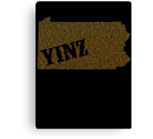 Yinz Speckled Canvas Print