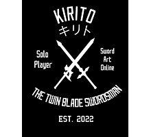 The Twin Blade Swordsman (White) Photographic Print