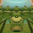 Robin's Egg Among Happy Green Apples  by barrowda