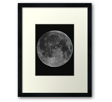 To The Moon & Back Framed Print