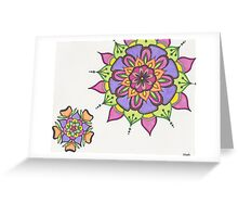 Citrus Flower mandalas Greeting Card