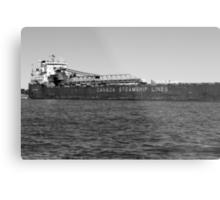 Canada Steamship Lines BW Metal Print
