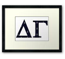 delta gamma anchors Framed Print