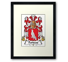 Pariseau Coat of Arms (French) Framed Print