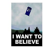 """I Want To Believe"" Police Public Call Box version.  Photographic Print"