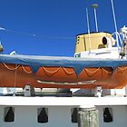 Funnel, Lifeboat, & Dining, old freighter, Coffs Harbour. N.S.W. Nth. Coast. Aust. by Rita Blom