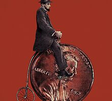 Penny Farthing red option  by Eric Fan