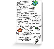 Kerbal Orbit Science 1 Greeting Card