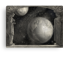 Earth, Moon, and the Milky Way Galaxy Canvas Print