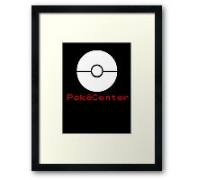 PokeCenter Sign Framed Print