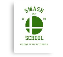 Smash School (Green) Canvas Print
