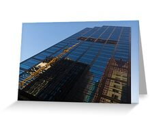 Reflecting on Skyscrapers - Downtown Atmosphere  Greeting Card