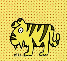 Nits for Kids - Tansy the Tiger Bag by nits-for-kids