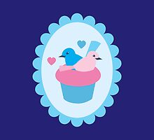 Blue wren cupcakes by jazzydevil