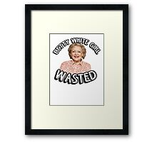 Betty White girl wasted Framed Print
