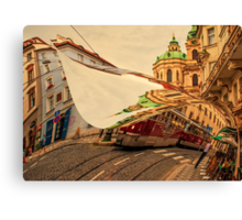 Turn the Page of Past Day. Prague Streets Canvas Print