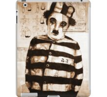 old book drawing famous charles chaplin iPad Case/Skin
