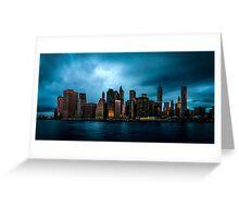 Manhattan At Dawn Greeting Card