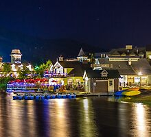Blue Mountain Village at night by John Velocci