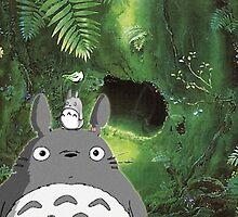 Totoro at Home by cafethe